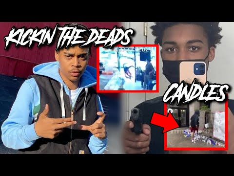 BRONX RAPPER KICKS DEAD CRIP'S CANDLES AFTER 16YR OLD DRILLED IN UBER ON CAMERA