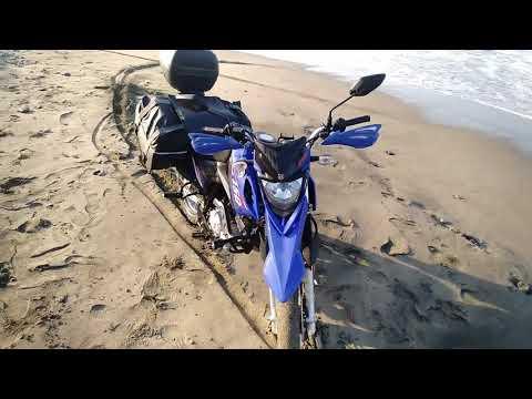 viaje a la playa en yamaha xtz 150/ estadísticas e informacion de viaje