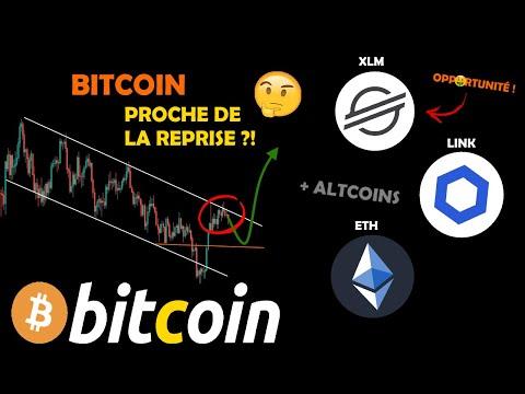BITCOIN 🤔 RALENTISSEMENT AVANT LA REPRISE ?! + ETH / XLM 🤑 / LINK 😥 analyse crypto monnaie fr