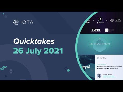 IOTA Quicktakes  26.07.2021 – Expansion of CDL-BOT, Dev Status Update, Mariana De la Roche & INATBA