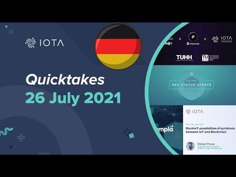 IOTA Quicktakes 26.07.2021 – Doppler Labor, Dev Status Update, INATBA,… IOTAWeekly Übersetzung