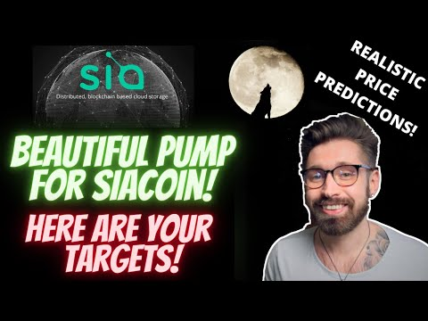 SIACOIN PRICE PREDICTION!👑BEAUTIFUL PUMP FOR SIA👁SIACOIN PRICE PREDICTION 2021
