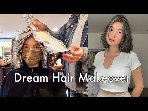 vlog   My dream hair transformation 🤩 (ash gray balayage), no secrets q+a, new makeup haul!