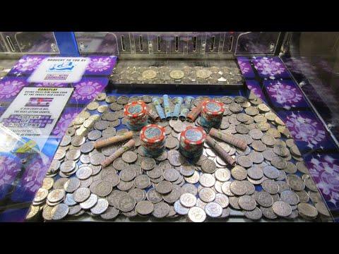 Aussie Coin Pusher EP 243  THREE HALF DOLLARS TO WIN