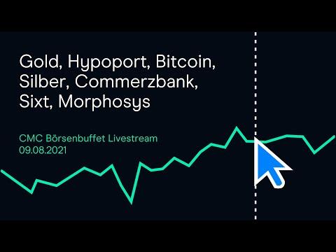 Gold, Hypoport, Bitcoin, Silber, Commerzbank, Sixt, Morphosys (Livestream-Mitschnitt)