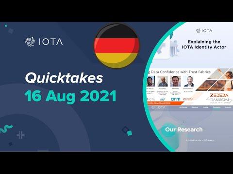 IOTA Quicktakes deutsch 16.08.2021 – IOTA Identity Actor,  Homepage Update und mehr (by IOTAWeekly)