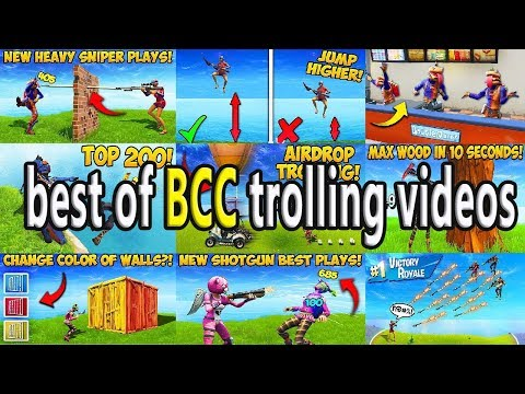 Fortnite one hour best of BCC trolling videos Funny Fails and WTF Moments