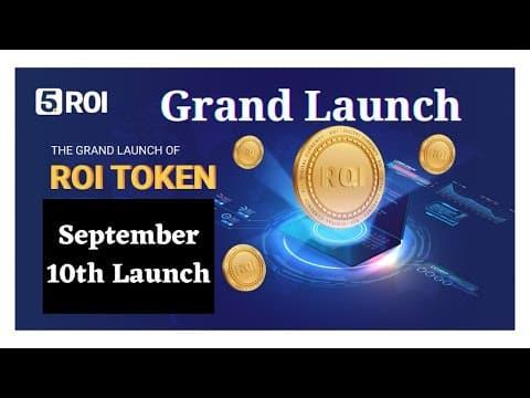 September 10th Roi Coin Launch ? Mass Update