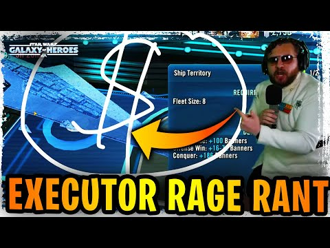 EXECUTOR RAGE RANT! BUFF HARDER!  DON'T SLEEP ON MANDALORIANS For MAX Banners in 3v3 Grand Arena!