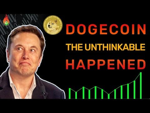 THE UNTHINKABLE HAPPENED FOR DOGECOIN TODAY!   DOGECOIN NEWS