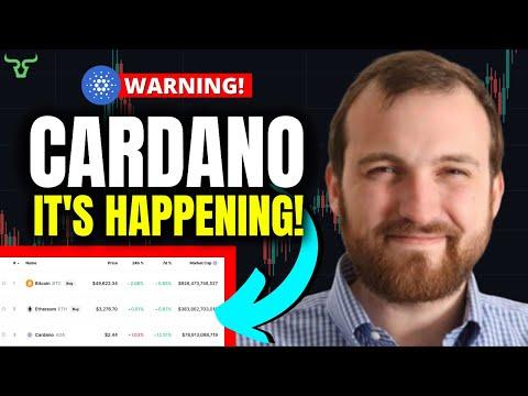 CARDANO ADA MAJOR NEWS!!! IT'S HAPPENING… (Prepare Now)