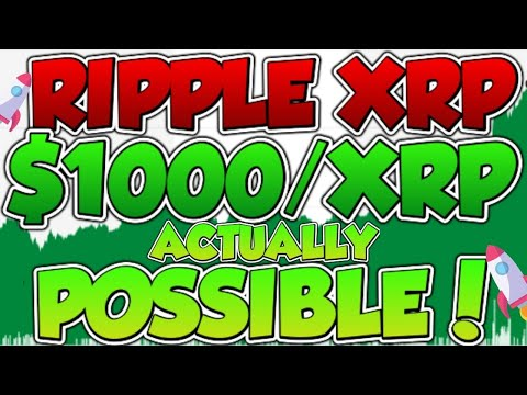 ??RIPPLE XRP: WHY $1000/XRP IS ACTUALLY POSSIBLE!!