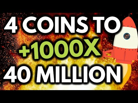4 COINS TO $40 MILLION! TOP Micro-Caps to GET RICH in August/September