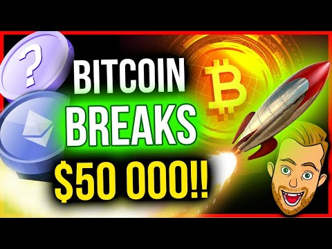 BITCOIN BREAKS $50,000! 5 STRONGEST ALTCOIN TRADES TODAY!