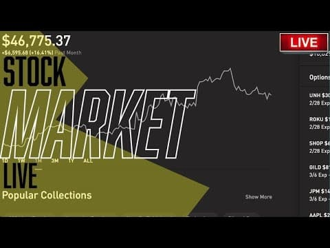 STOCKS & CRYPTO OPEN STRONG! – Live Trading, DOW & S&P, Stock Picks, Day Trading & STOCK NEWS