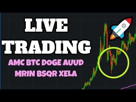 🔥 🔴Bitcoin (BTC) 50k + Dogecoin UP! MMAT + AMC High? PLTR Gold?! PFE? Penny Stocks BXRX CARA SOS