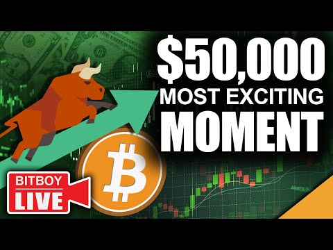 $50k Bitcoin Most Exciting Moment (Crypto Bull Run In FULL Effect)