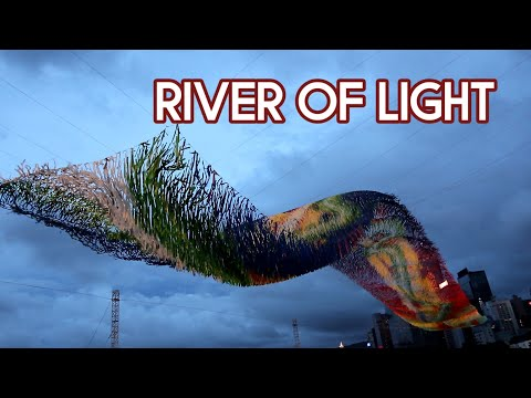 River of Light,Poetic Kinetics Skynet Art Hong Kong Canon Eos M100