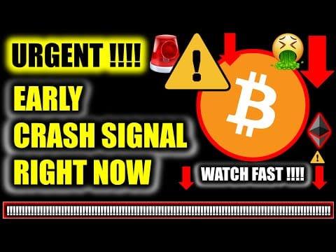 ⚠️ *URGENT CRASH SIGNAL!!!!* MAJOR BITCOIN PRICE UPDATE!!!!  ⚠️ Crypto Analysis TA & BTC News Today