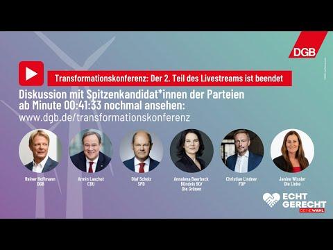 DGB-Transformationskonferenz: Diskussion mit Spitzenkandidat*innen