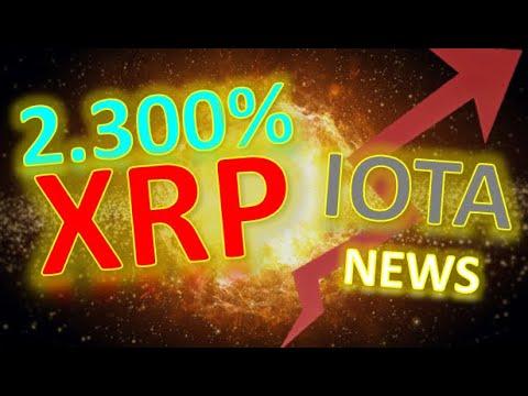 XRP Prognose 2 300% | IOTA unterstützt Kryptobranche | Krypto News