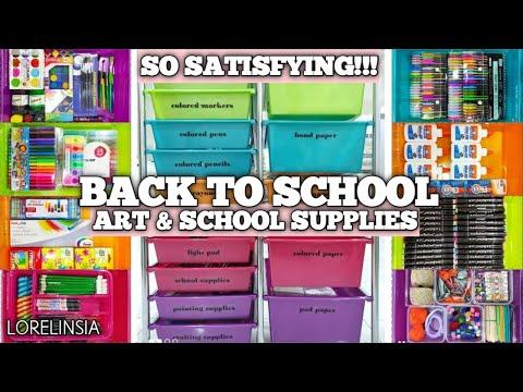 So Satisfying!!!   Back to School Organization   Art & School Supplies   Lorelin Sia