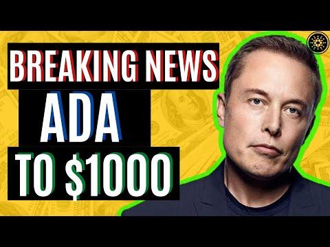 CARDANO ADA TO $1000! 60 x ADA MOONSHOT COMING ! CARDANO ADA NEWS TODAY
