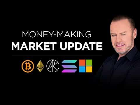 Crypto Update: Bitcoin Bullish Signs,  ETH, SOL + the Next Solana, Microsoft, Ark + more