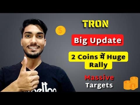 Tron Big Update | 2 Coins Me Huge Rally Expected | Ready For Big Breakout | Cryptocurrency