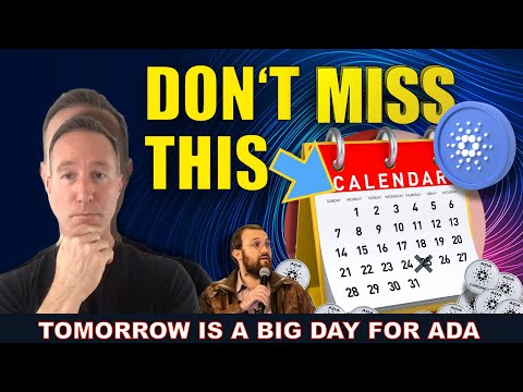 IT HAPPENS TOMORROW FOR CARDANO. THIS COULD BE BIG FOR ADA HODLERS.