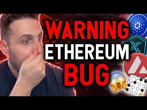 WARNING!! ETHEREUM BUG FOUND!! Cardano price set to explode