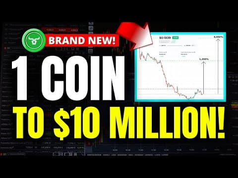 1 COIN TO $10 MILLION! 100X CRYPTO (Why This Altcoin Could Make You MILLIONS in 2021)