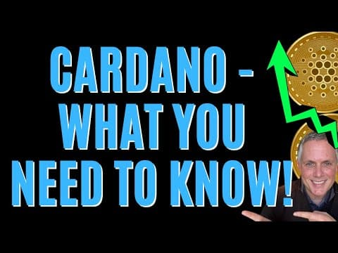 ? CARDANO ADA – WHAT YOU NEED TO KNOW RIGHT NOW! ?