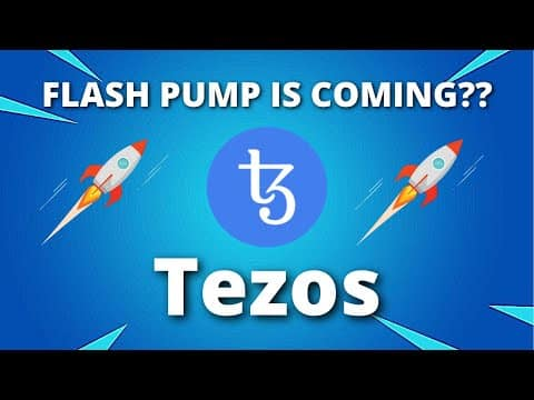 Tezos Price Predictions – A FLASH PUMP IS COMING HERE IS WHY?? – Tezos XTZ Price Predictions