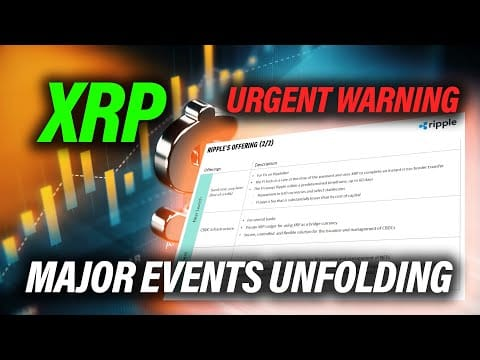 Ripple XRP⚠️URGENT WARNING ? MAJOR EVENTS APPROACHING