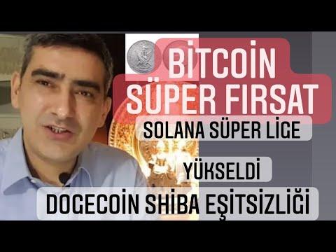 Bitcoin süper fırsat solana süper lige yükseldi shiba ve dogecoin eşitsizliği