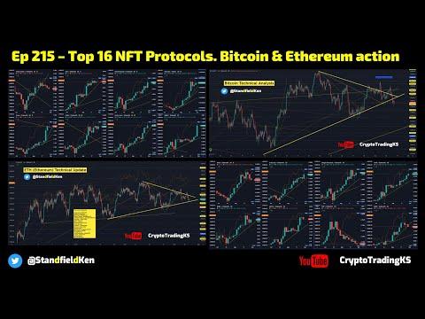 Ep 215 – TA Top 16 NFT Protocols + Bitcoin & Ethereum THETA XTZ AXS CHZ MANA ENJ VRA SAND DBG BAKE++