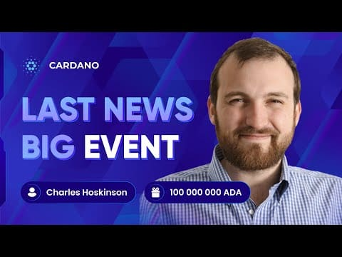 Charles Hoskinson: We Expect $28 per Cardano on September !! BTC/ADA NEWS and PRICE CARDANO