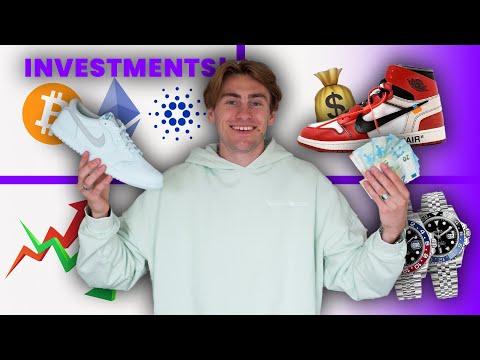 Mit 600€ durch SNEAKER, UHREN, CRYPTO & ETF's ___€ gemacht!!?? // Investment experiment Teil 2!