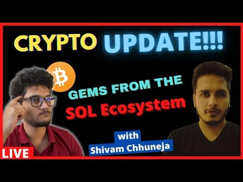 Crypto Market Update   GEMS From SOL Ecosystem   Altcoins to Buy ETH SOL AR LINK UNI
