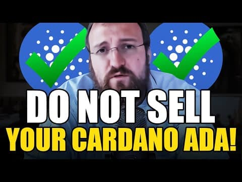"""""""I WILL NEVER GIVE UP ON CARDANO"""" – Charles Hoskinson: Why ADA Will Become The #1 Cryptocurrency!"""