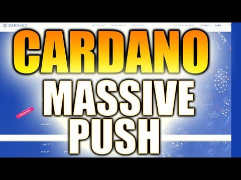 CARDANO – $3 PUSH STILL COMING!? SMART CONTRACTS! – ADA PRICE PREDICTION – Cardano Price Prediction
