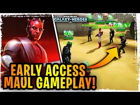 EARLY ACCESS MAUL GAMEPLAY – First Look Gameplay Maul with Mandalorians – Beskar Mando Awesome Now!?