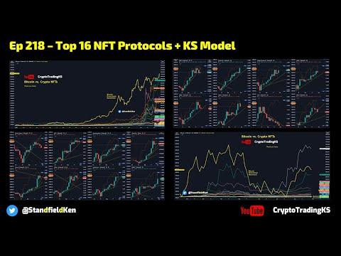 Ep 218– TA Top 16 NFT Protocols THETA XTZ AXS CHZ MANA ENJ VRA SAND DBG BAKE FET ALICE OGN SLP ++