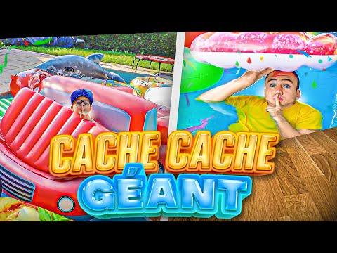 CACHE CACHE GÉANT AVEC SWAN DANS LE JARDIN !!!