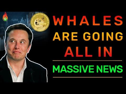 DOGECOIN AND CRYPTO WHALES ARE GOING ALL IN RIGHT NOW!   DOGECOIN NEWS