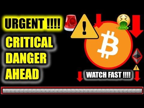 ⚠️ *URGENT DANGER!!!!* CRITICAL BITCOIN PRICE UPDATE!!!!  ⚠️ Crypto Analysis TA & BTC News Today Now