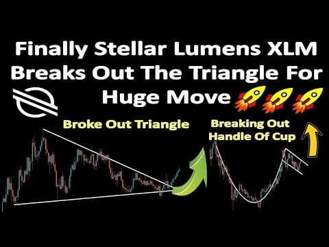 Finally Stellar Lumens XLM Breaks Out The Triangle For Huge Move