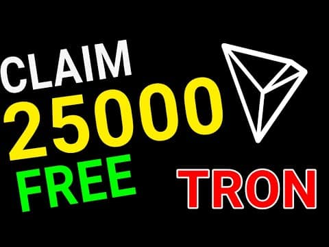 25000 FREE TRX TRON EVERY MINUTE | Free Cryptocurrency earning FREE TRON TRX MINING Best trx faucet