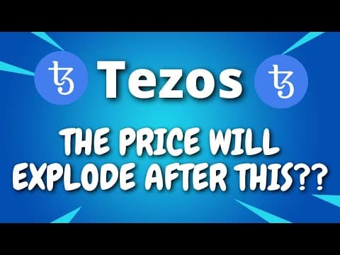 Tezos Price Predictions – THE PRICE WILL EXPLODE AFTER THIS?? – Tezos XTZ Price Predictions